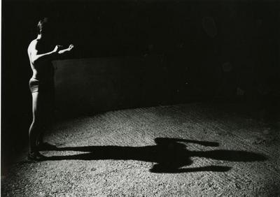 Burning your own shadow (photo documentation of a performance)