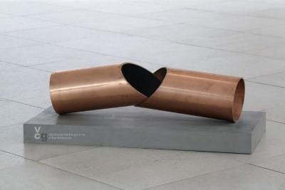 The copper sculpture